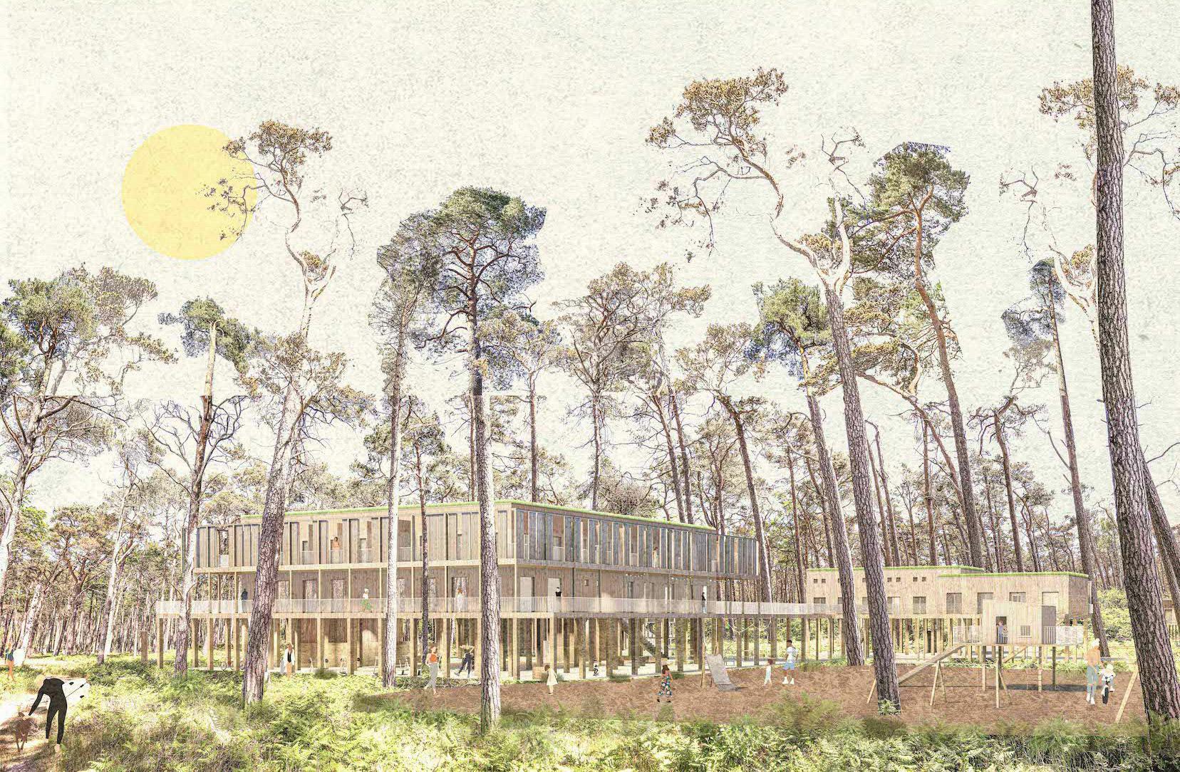 Pine Rooms – Touristische Einrichtung an der französischen Atlantikküste